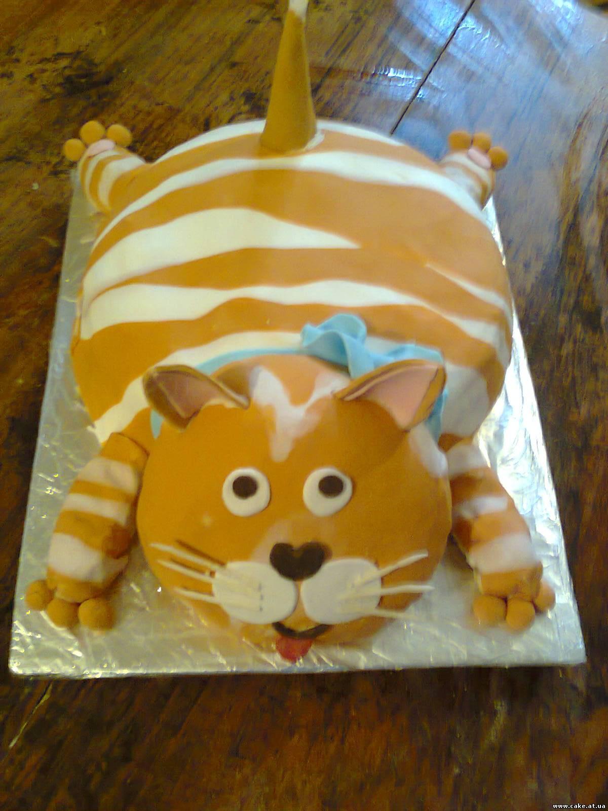 Торт кошка из крема фото пошагово